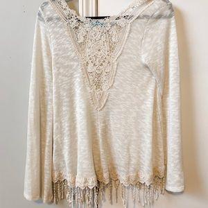 Ivory Boho Cotton Top